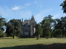 Όμορφα σπίτια της Γαλλίας Σαιντ Ετιέν-Medoc Στοκ φωτογραφία με δικαίωμα ελεύθερης χρήσης