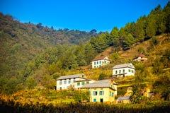 Όμορφα σπίτια του χωριού Nepali Στοκ εικόνα με δικαίωμα ελεύθερης χρήσης