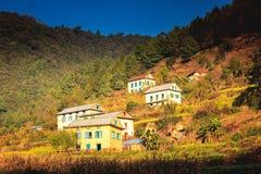 Όμορφα σπίτια του χωριού Nepali Στοκ Φωτογραφία