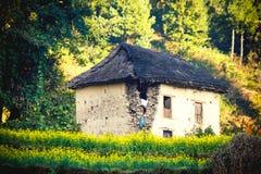 Όμορφα σπίτια του χωριού Nepali Στοκ Εικόνες