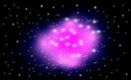 Όμορφα συστάδα και νεφέλωμα γαλαξιών διανυσματική απεικόνιση