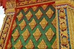 Όμορφα σχέδια τέχνης οικοδόμησης της Ταϊλάνδης στοκ εικόνες