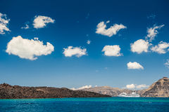 Όμορφα σύννεφα ουρανού ελληνικά νησιά Στοκ Φωτογραφία
