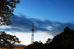 Όμορφα σύννεφα στον ουρανό βραδιού στοκ φωτογραφίες με δικαίωμα ελεύθερης χρήσης