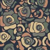 όμορφα τριαντάφυλλα προτύπων άνευ ραφής Στοκ Εικόνα