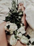 Όμορφα τριαντάφυλλα ως Mother& x27 ημέρα του s παρούσα Στοκ Εικόνα