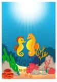 Όμορφα υποβρύχια παγκόσμια κινούμενα σχέδια διανυσματική απεικόνιση