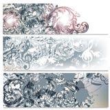 Όμορφα υπόβαθρα που τίθενται με το floral σχέδιο Στοκ εικόνα με δικαίωμα ελεύθερης χρήσης