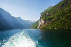 Όμορφα φιορδ της Νορβηγίας Στοκ Εικόνα