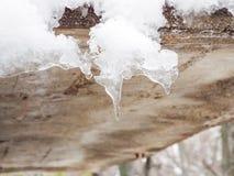 Όμορφα χειμερινά παγάκια Στοκ εικόνα με δικαίωμα ελεύθερης χρήσης