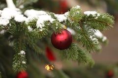 Όμορφα Χριστούγεννα και νέα σκηνή ετών Στοκ εικόνα με δικαίωμα ελεύθερης χρήσης
