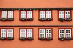 Όμορφα Χριστούγεννα και νέα σκηνή ετών Στοκ Εικόνες