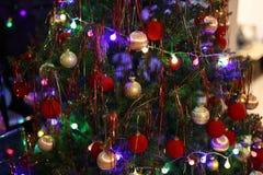 Όμορφα Χριστούγεννα και νέα σκηνή ετών Στοκ φωτογραφία με δικαίωμα ελεύθερης χρήσης