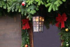 Όμορφα Χριστούγεννα και νέα σκηνή ετών Στοκ φωτογραφίες με δικαίωμα ελεύθερης χρήσης