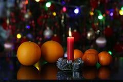 Όμορφα Χριστούγεννα και νέα σκηνή ετών Στοκ Εικόνα