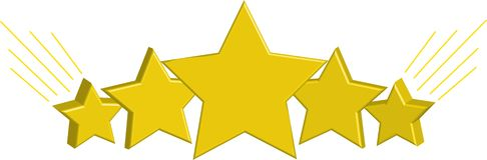 Όμορφα, χρυσά αστέρια στοκ φωτογραφία με δικαίωμα ελεύθερης χρήσης
