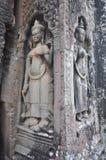 Όμορφα apsaras του TA Prohm Kel, Καμπότζη. Στοκ εικόνα με δικαίωμα ελεύθερης χρήσης