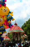 Όμορφα parivar αυτοκίνητα ναών στο μεγάλο φεστιβάλ αυτοκινήτων ναών του thyagarajar ναού sri thiruvarur στοκ εικόνα με δικαίωμα ελεύθερης χρήσης