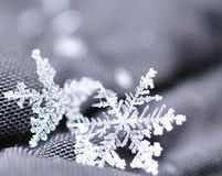 Όμορφα Snowflakes που βλέπουν επάνω κοντά Στοκ φωτογραφίες με δικαίωμα ελεύθερης χρήσης
