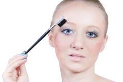όμορφες απομονωμένες makeup νεολαίες λευκών γυναικών στοκ εικόνα με δικαίωμα ελεύθερης χρήσης