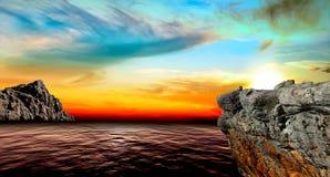 Όμορφες απόψεις της θάλασσας Στοκ εικόνα με δικαίωμα ελεύθερης χρήσης