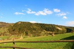 Όμορφες απόψεις των Carpathians βουνών και του λιβαδιού Στοκ φωτογραφίες με δικαίωμα ελεύθερης χρήσης