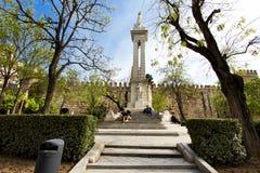 Όμορφες απόψεις Plaza del Triunfo, Σεβίλη, Στοκ Φωτογραφία