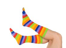 όμορφες αστείες κάλτσες ποδιών Στοκ εικόνες με δικαίωμα ελεύθερης χρήσης