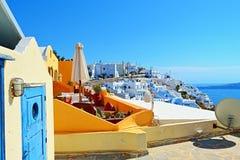 Όμορφες βίλες Ελλάδα Santorini Στοκ φωτογραφία με δικαίωμα ελεύθερης χρήσης