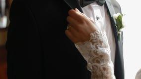 Όμορφες γαμήλιες λεπτομέρειες απόθεμα βίντεο