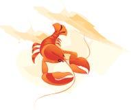 Όμορφες γαρίδες διανυσματική απεικόνιση