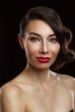 όμορφες γυναίκες πορτρέτ& Στοκ Εικόνα
