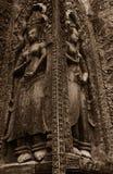 Όμορφες γλυπτικές Apsara Στοκ εικόνα με δικαίωμα ελεύθερης χρήσης