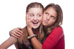 όμορφες εφηβικές δύο νεο στοκ εικόνες