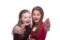 όμορφες εφηβικές δύο νεο στοκ φωτογραφία