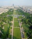 Όμορφες θέσεις του Παρισιού - Champ de Άρης Στοκ Φωτογραφία