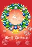 Όμορφες διακοσμήσεις στεφανιών Χριστουγέννων - διανυσματικό eps10 απεικόνιση αποθεμάτων