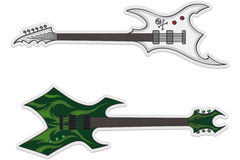 όμορφες κιθάρες δύο διανυσματική απεικόνιση