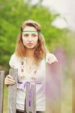 όμορφες κορδέλλες κοριτσιών Στοκ εικόνα με δικαίωμα ελεύθερης χρήσης