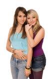 όμορφες κυρίες δύο νεολαίες Στοκ Εικόνες