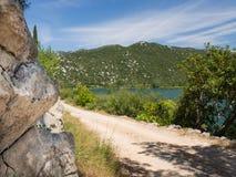 Όμορφες λίμνες Bacina στη Δαλματία, Κροατία - προορισμός διακοπών στοκ φωτογραφία