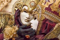 Όμορφες μάσκες σε καρναβάλι στη Βενετία, Ιταλία Στοκ Εικόνα