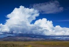 Όμορφες μορφές σύννεφων πέρα από τη στέπα Στοκ εικόνες με δικαίωμα ελεύθερης χρήσης