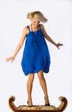 όμορφες μπλε νεολαίες &kappa Στοκ εικόνα με δικαίωμα ελεύθερης χρήσης