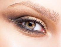 όμορφες νεολαίες γυναικών μπλε ματιών στοκ φωτογραφία με δικαίωμα ελεύθερης χρήσης