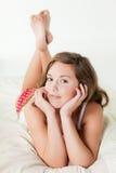 όμορφες νεολαίες γυνα&iota στοκ εικόνα με δικαίωμα ελεύθερης χρήσης
