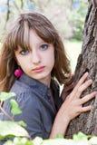 όμορφες νεολαίες πορτρέτου κοριτσιών Στοκ Εικόνα