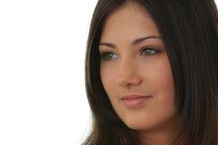 όμορφες νεολαίες πορτρέτου brunette γοητευτικές Στοκ εικόνα με δικαίωμα ελεύθερης χρήσης