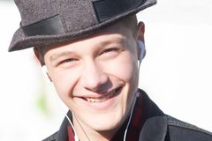 όμορφες νεολαίες πορτρέ&ta Στοκ Φωτογραφία
