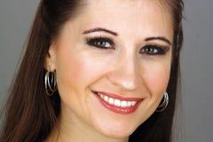 όμορφες νεολαίες brunette headshot Στοκ εικόνες με δικαίωμα ελεύθερης χρήσης